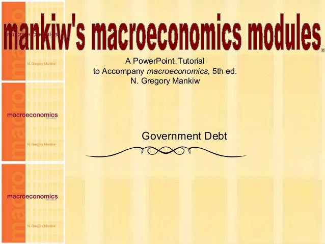 Chapter Fifteen 1 A PowerPoint™Tutorial to Accompany macroeconomics, 5th ed. N. Gregory Mankiw ® Government Debt