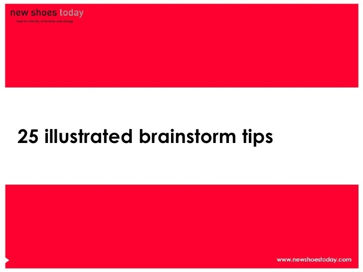25 illustrated brainstorm tips