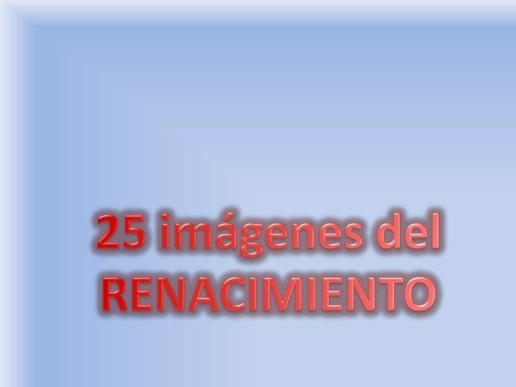 25 ImGenes Del Renacimiento