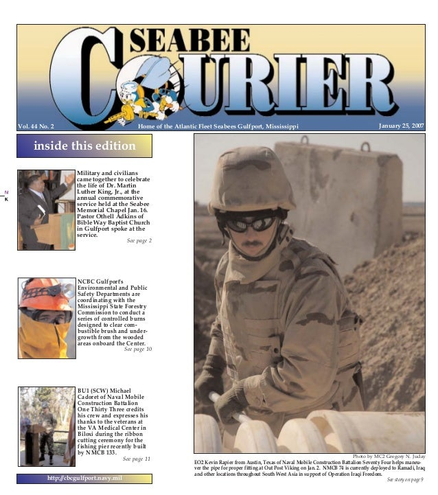 1/24/2007  13:16  Page 1  PG 1 COLOR  Home of the Atlantic Fleet Seabees Gulfport, Mississippi  Vol. 44 No. 2  PG 24 COLOR...