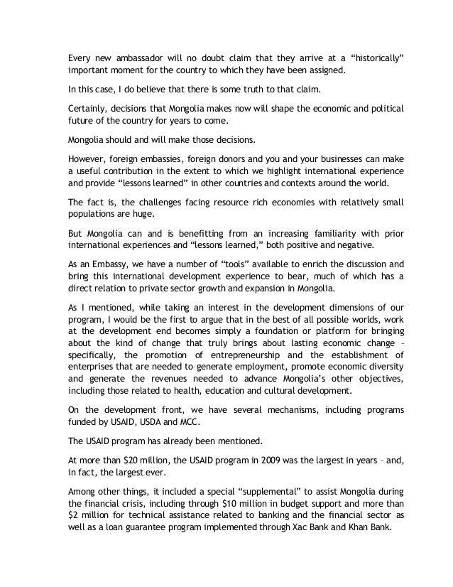 25.01.2010 Remarks at Business Council of Mongolia Meeting, Jonathan Addleton Slide 2