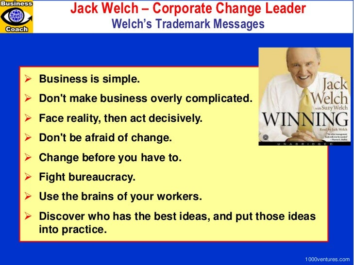 the main achievements of jack welchs leadership in general eletric As the world's digital industrial company, ge is transforming industry with software-defined machines and solutions the ge store structure ensures that each invention fuels innovation and application across industrial sectors.