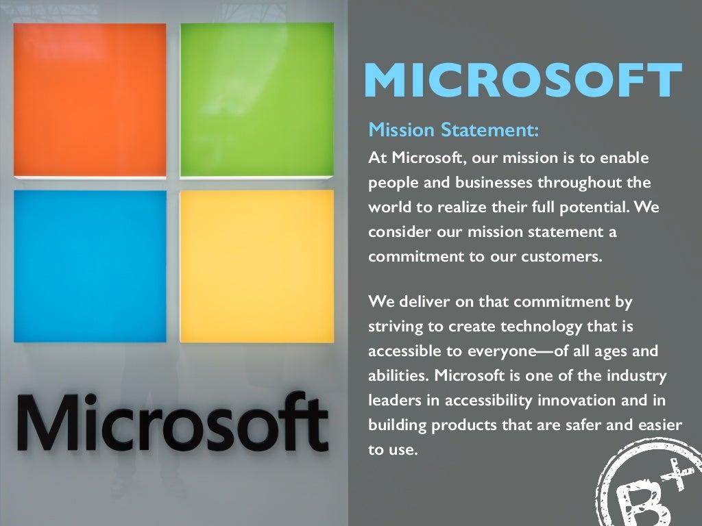 microsoft mission statement  at microsoft