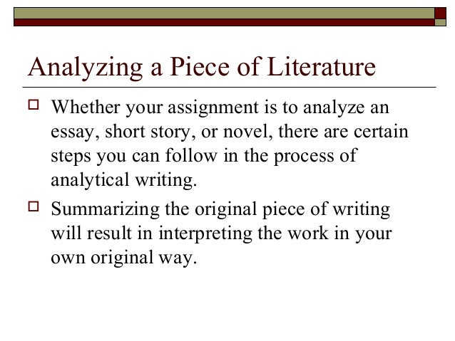 writing the analytical essay 4