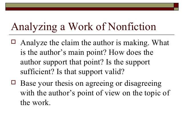 Essay fiction non