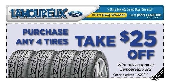 Lamoureux Ford New Tire Special Brookfield MA