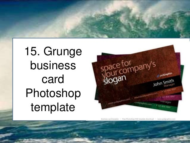 25 professional business card free psd templates grunge business card photoshop template reheart Images