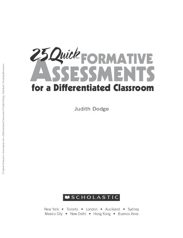 Quick Formative Assessments