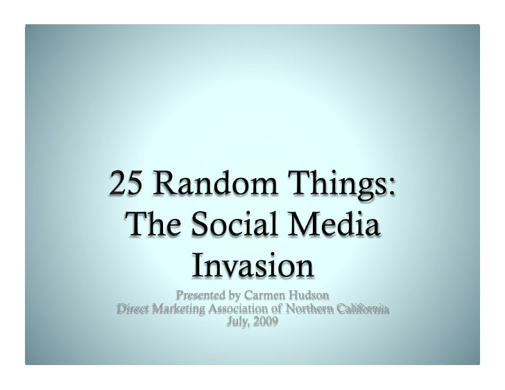 25 Random Things about Social Media