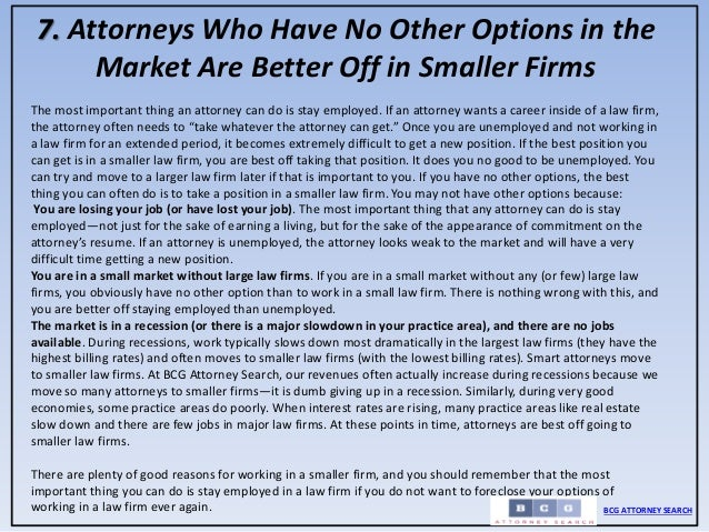 25 reasons why boutique firms are the best choice for many attorneys …