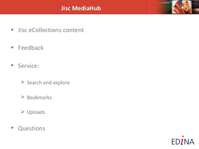 Jisc MediaHub webinar Slide 3