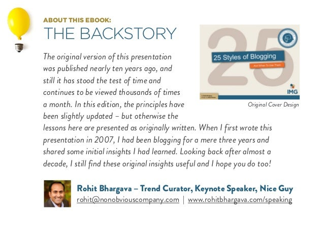 ABOUT THIS EBOOK: THE BACKSTORY The original version of this presentation was published nearly ten years ago, and still it...