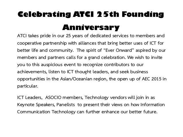 Atci 25th Anniversary Ever Onward Dinner Talk 18