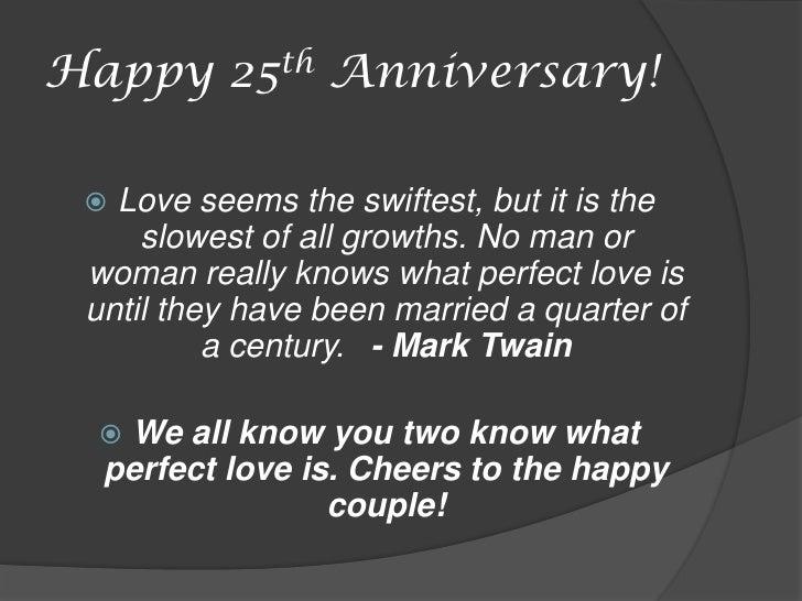 silver anniversary saying