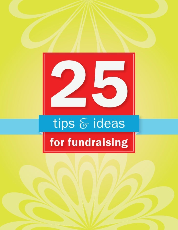 tips & ideas for fundraising