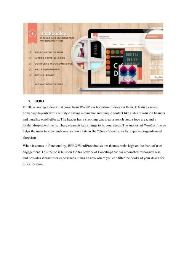 25 top wordpress book store themes