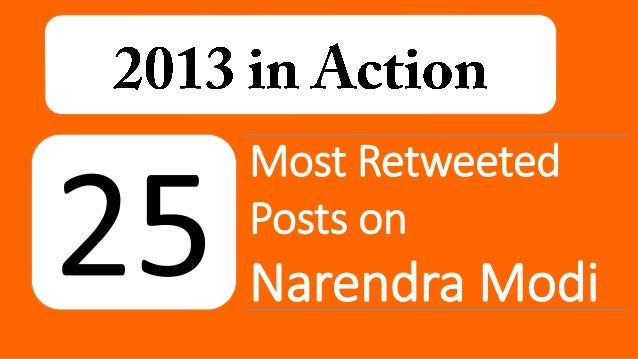 Most Retweeted Posts on  Narendra Modi