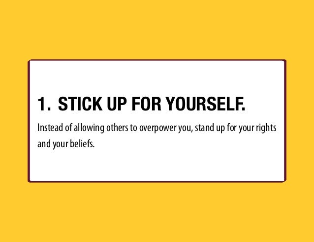 how to stick up for yourself at work