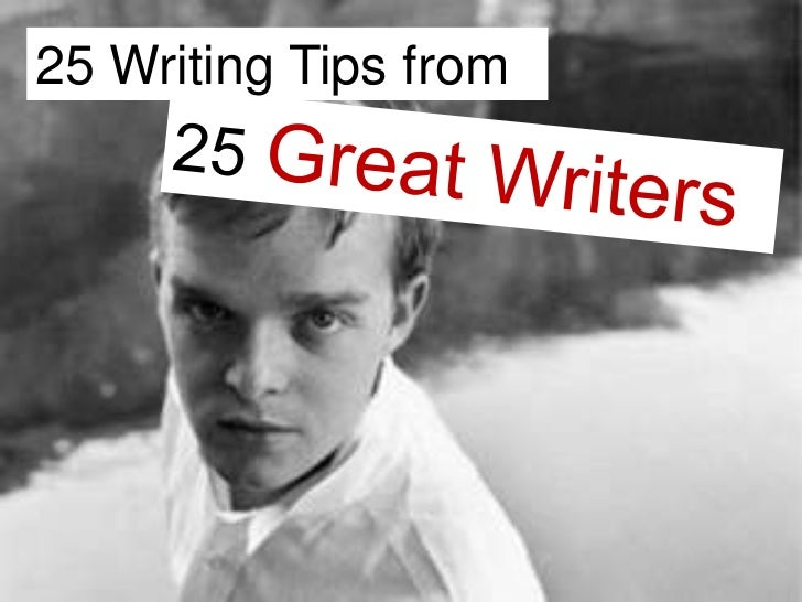 25 Writing Tips from