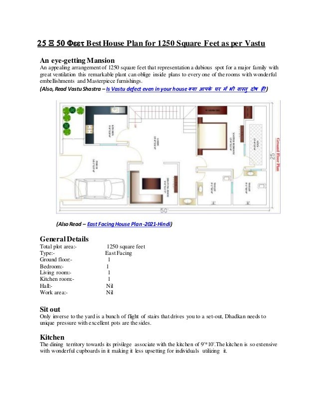 BestHouse Plan for 1250 Square Feet as per Vastu  An eye-getting Mansion An appealing arrangement of 1250 s...