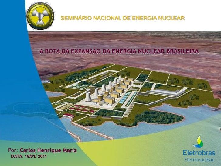 """SEMINÁRIO NACIONAL DE ENERGIA NUCLEAR             0123040567089:2405851;<08=!>501?109<>5<10!""""#$ !""""#$%&()*#+,-).""""#+/DATA: 1..."""