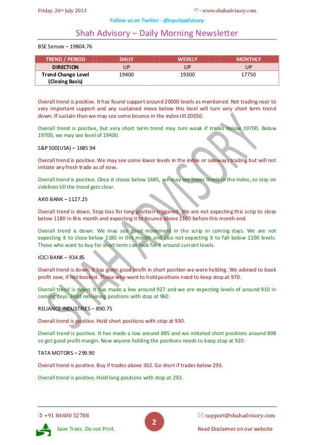 Daily Newsletter -26-07-2013 Slide 2