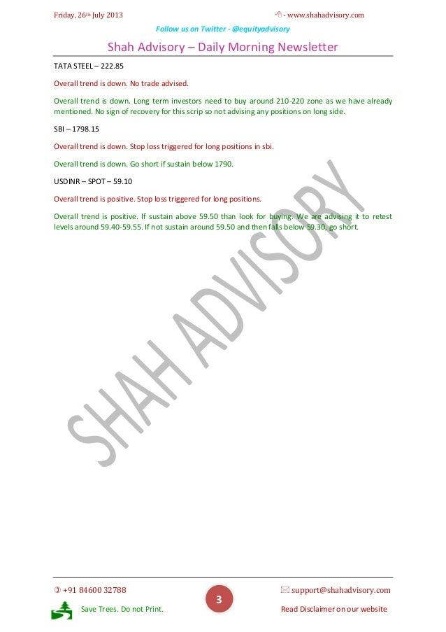 Daily Newsletter -26-07-2013 Slide 3
