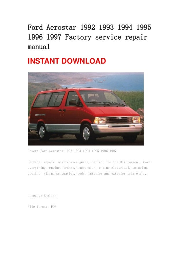 ford aerostar 1992 1993 1994 1995 1996 1997 repair manual 1 638?cb=1367374327 ford aerostar 1992 1993 1994 1995 1996 1997 repair manual wiring diagram for a ford aerostar at reclaimingppi.co