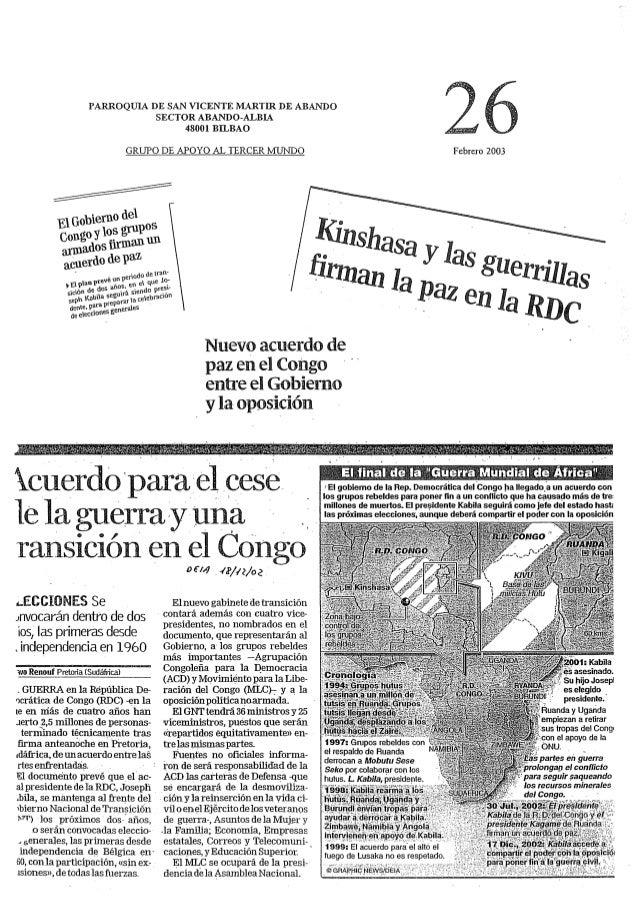 PARROQUIA DE SAN VICENTE IVLARTIR DE ABANDO SECTOR ABANDO-ALBIA 48001 BILBAO     GRUPO DE.  APOYO AL TERCER MUNDO Febrero ...