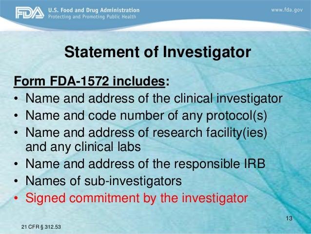 FDA 2013 Clinical Investigator Training Course: Ensuring the Safety o…