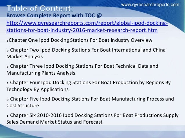Global Ipod Docking Stations For Boat Market 2016 Industry