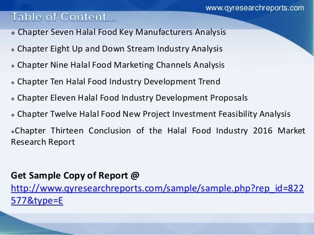 analysis of the halal industry Understanding mechanisms to promote halal  according to reports by halal industry  the competitiveness of halal food industry in malaysia: a swot - ict analysis.