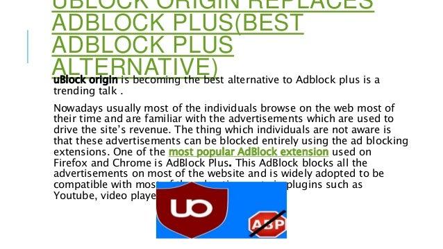 uBlock origin replaces adblock plus(best adblock plus alternative)