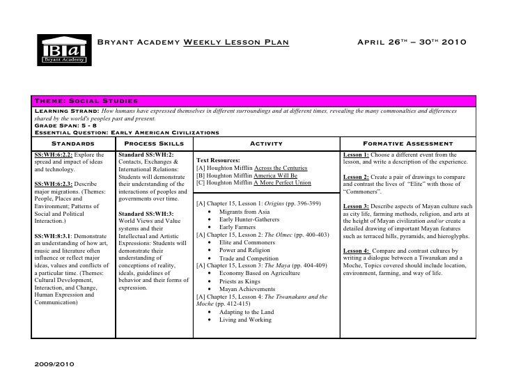 B       Bryant Academy Weekly Lesson Plan                                                              April 26th – 30th 2...