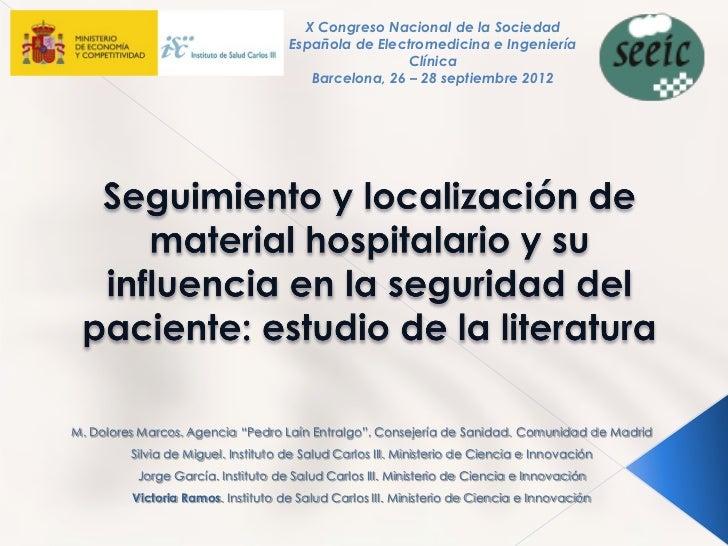 X Congreso Nacional de la Sociedad                                     Española de Electromedicina e Ingeniería           ...