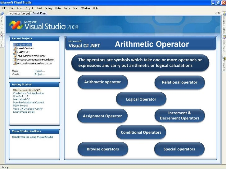 Arithmetic Operator<br />  The operators are symbols which take one or more operands or <br /> expressions and carry out a...