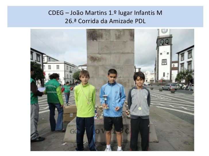 CDEG – João Martins 1.º lugar Infantis M     26.ª Corrida da Amizade PDL