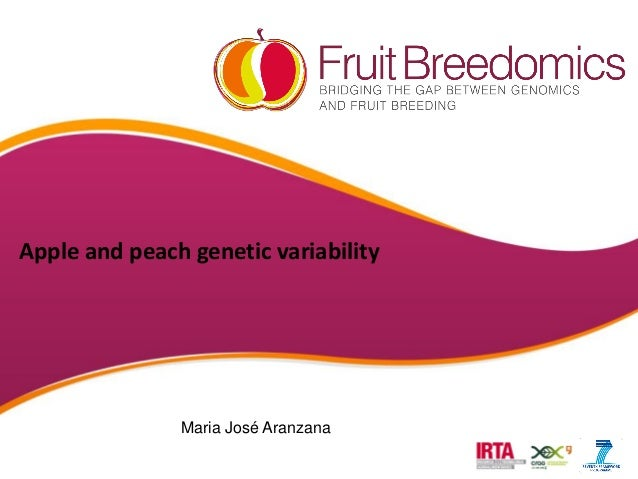 Apple and peach genetic variability Maria José Aranzana