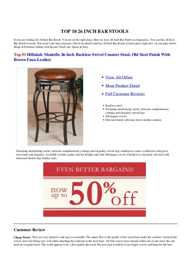 Tremendous 26 Inch Bar Stools Caraccident5 Cool Chair Designs And Ideas Caraccident5Info