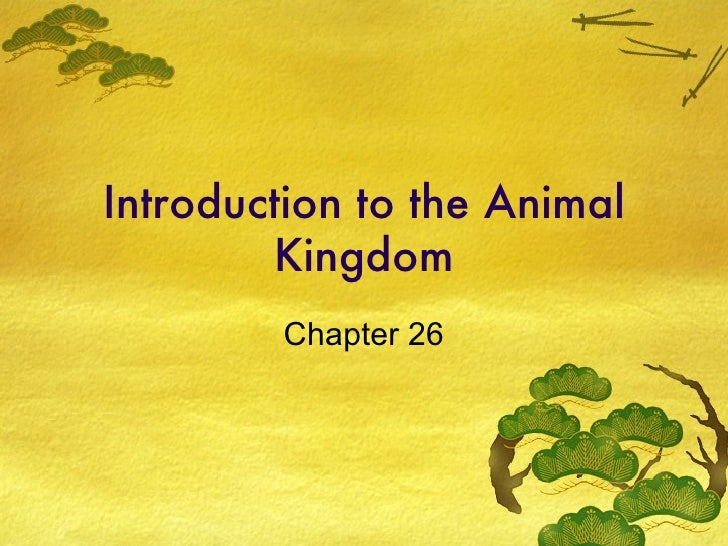 Introduction to the Animal Kingdom Chapter 26