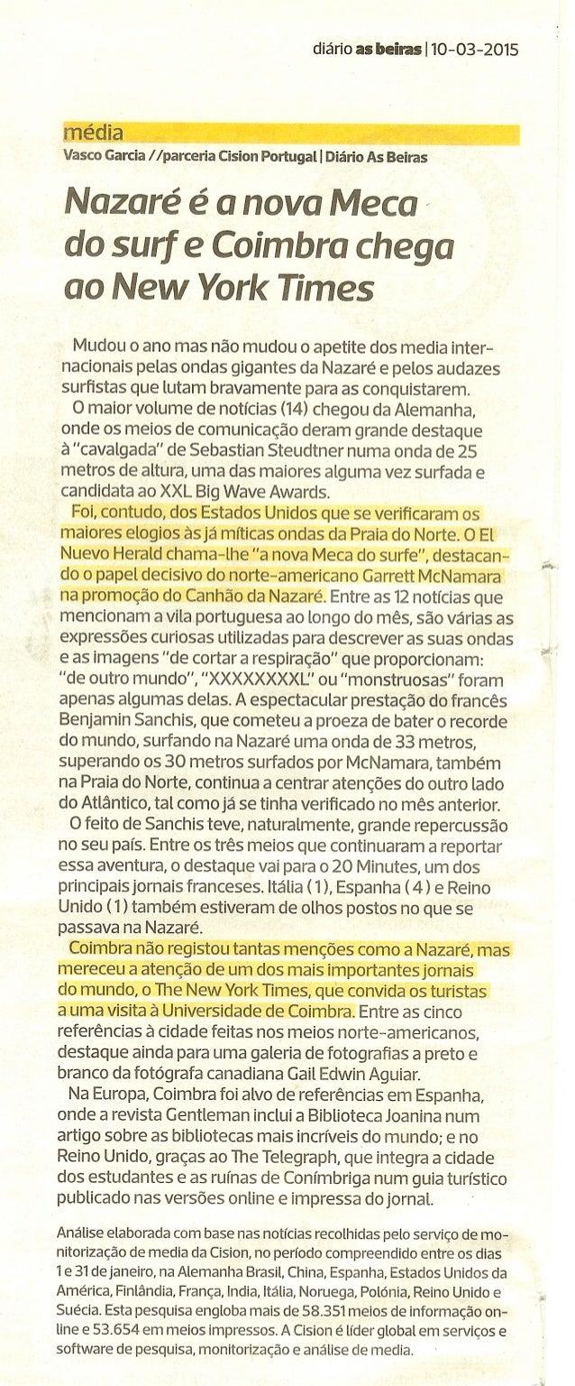 diário as baita: : I 10-03-2015  media Vasco Garcia /  /parceria Cision Portugal I Diário As Beiras  Mudou o ano mas não m...