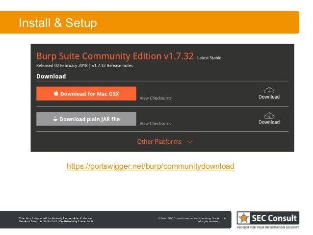 Burp Extender API for Penetration Testing