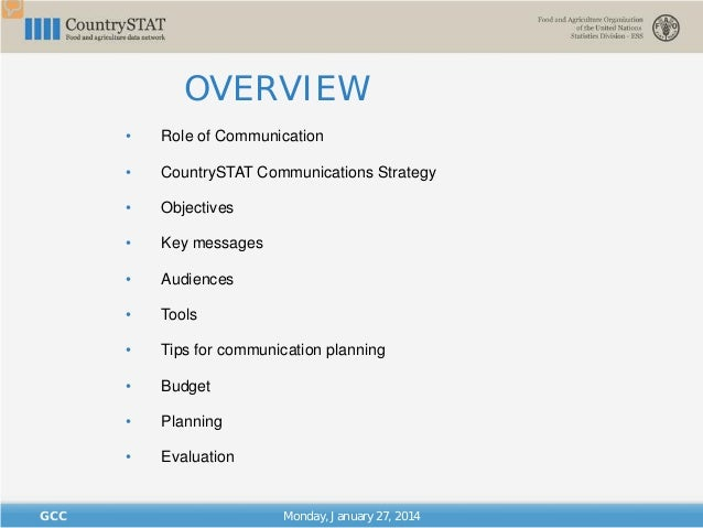 """""""CountrySTAT Regional Basic Administrator Training for GCC Member States/ CountrySTAT Communications and Visibility"""" Slide 2"""