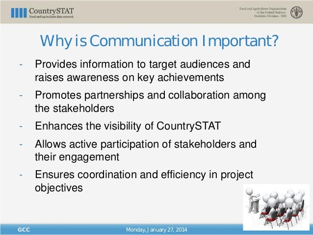"""""""CountrySTAT Regional Basic Administrator Training for GCC Member States/ CountrySTAT Communications and Visibility"""" Slide 3"""
