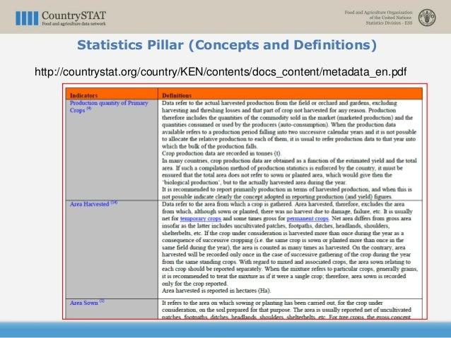 http://countrystat.org/country/KEN/contents/docs_content/metadata_en.pdf Statistics Pillar (Concepts and Definitions)