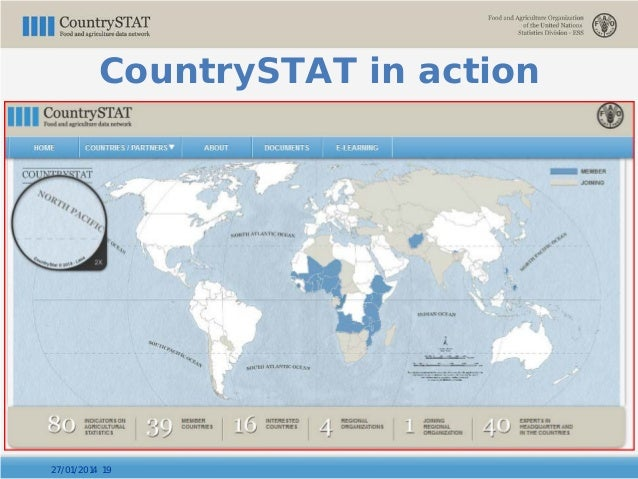 27/01/2014 19 CountrySTAT in action