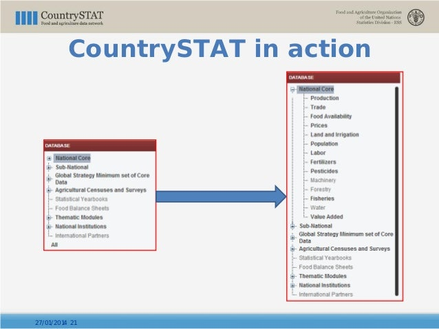 27/01/2014 21 CountrySTAT in action