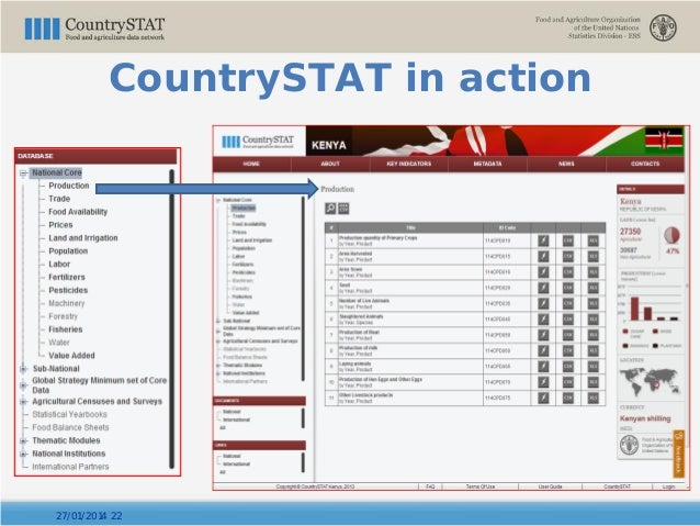 27/01/2014 22 CountrySTAT in action