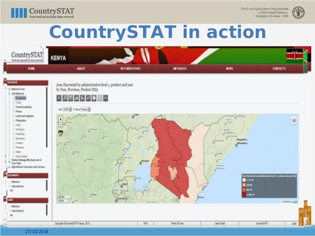 27/01/2014 CountrySTAT in action