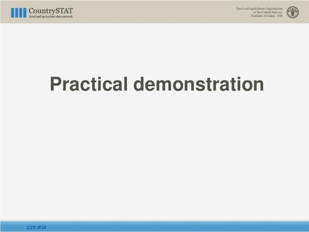 Practical demonstration 1/27/2014